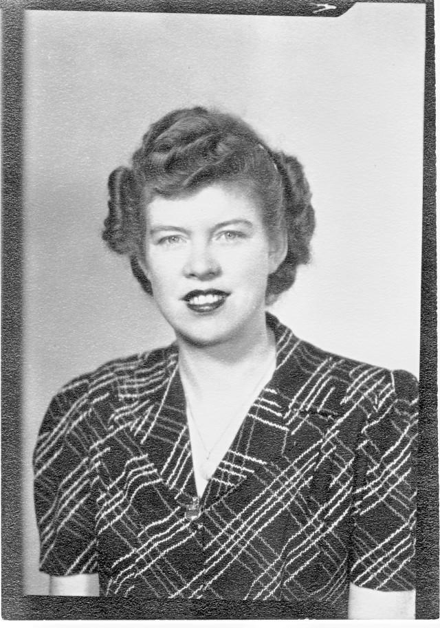 Georgia Goodgion in 1944 Rosie the Riveter