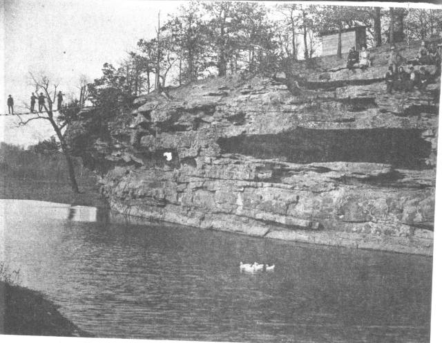 River and bluffs