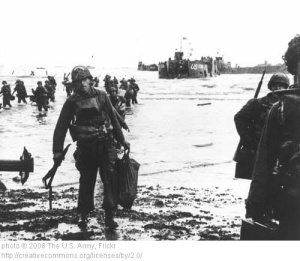 D Day Americans storm the beaches