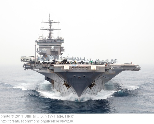 USS Enterprise standing offshore Dec. 7, 1944