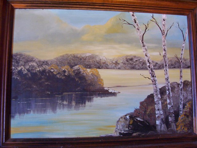Painting by Velda Brotherton